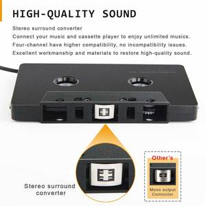 Cassette Adapter Stereo Type C Universal Converter Smartphone 3.5mm Input Mini Car Audio ABS Anti Tangled Four Channel