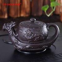 Hot Sales Chinese Yixing purple clay Teapot Raditional dragon tea pot Big capacity Handmade clay tea set kettle kung fu teapot|teapot yixing|teapot sale|teapot kettle -