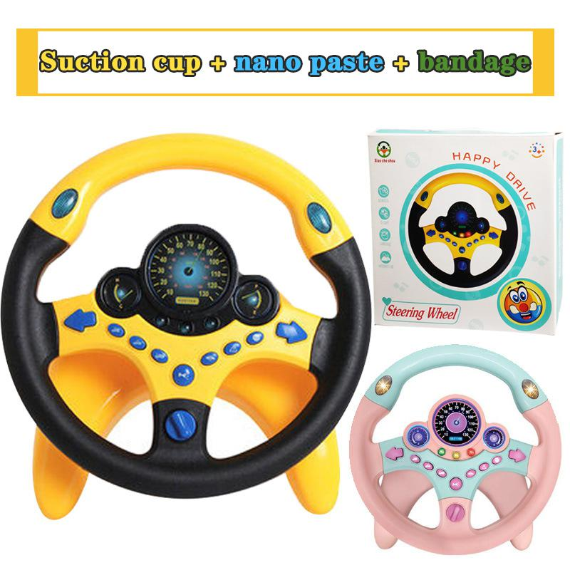 Simulation Car Steering Wheel With Light Baby Music Development Educational Toy Children Electronic Music Toy Kid Birthday Gift