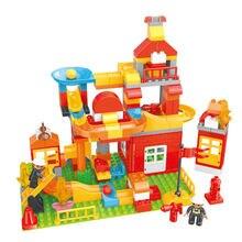 140 шт Детский конструктор «пожарная станция»