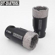 цена на DT-DIATOOL 2pcs M14 Dia 30mm Dry Vacuum Brazed Diamond Drill Core Bits Ceramic Tile Hole Saw Granite Marble Stone Drilling Bits