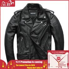 MAPLESTEED klasyczne kurtki motocyklowe mężczyźni skórzana kurtka 100% naturalna skóra cielęca gruby Moto kurtka zimowy rękaw 61 67cm M192