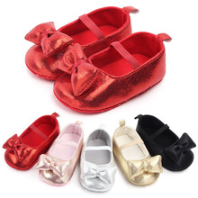 5 Colors PU Baby Shoes Infant First Walkers Bow Soft Soled N
