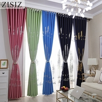 ZISIZ Printed Blackout Curtain for Bedroom Gold Shiny Kids Children Curtains for Living Room Decor Window Treatment Curtain|Curtains| |  -