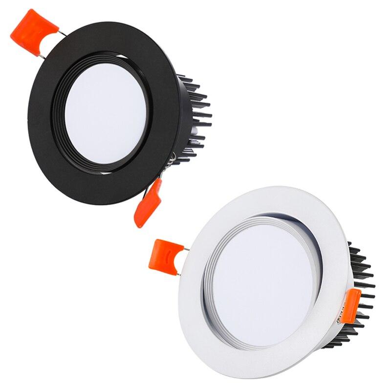 LED Techo Luz descendente mazorca regulable 3W 5W 7W 10W 12W 15W empotrable Led lámpara de punto para techo bombillas iluminación interior AC110V 220V