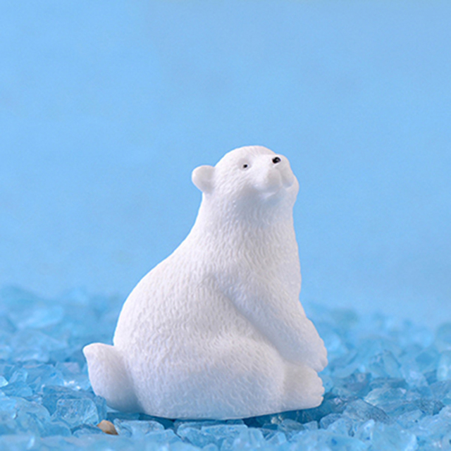 2019 modern lovely mini Polar bear home decor decoration home accessories miniature garden animals Resin figurine easter nordic 4