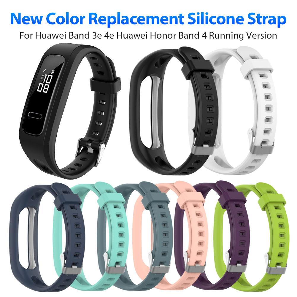 Silicone Sport Watch Band Strap Wrist Band Strap For Huawei Band 3e 4e Huawei Honor Band 4 Running Version Smart Watch Bracelet