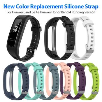Silicone Sport Watch Band strap Wrist Band Strap for Huawei Band 3e 4e Huawei Honor Band 4 Running Version Smart Watch Bracelet huawei honor a1 uv testing smart bracelet leather band black