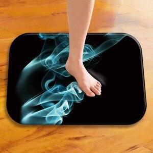 Image 4 - 40*60 piękny dymny prostokątny flanelowy miękki dywan mata podłogowa możliwa do umycia domu sypialnia do dekoracji hotelu mata podłogowa mata łazienkowa.