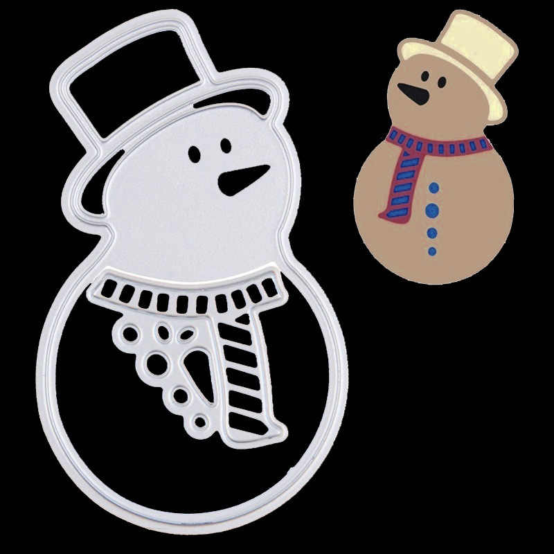Christmas Snowman Cutting Dies Cut Metal Scrapbooking Stencils Nesting Die for DIY Embossing Photo Album DIY Paper Cards Making