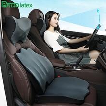 PurenLatex Memory Foam Pillow Headrest Seat Back Cushion Protect Neck Cervical