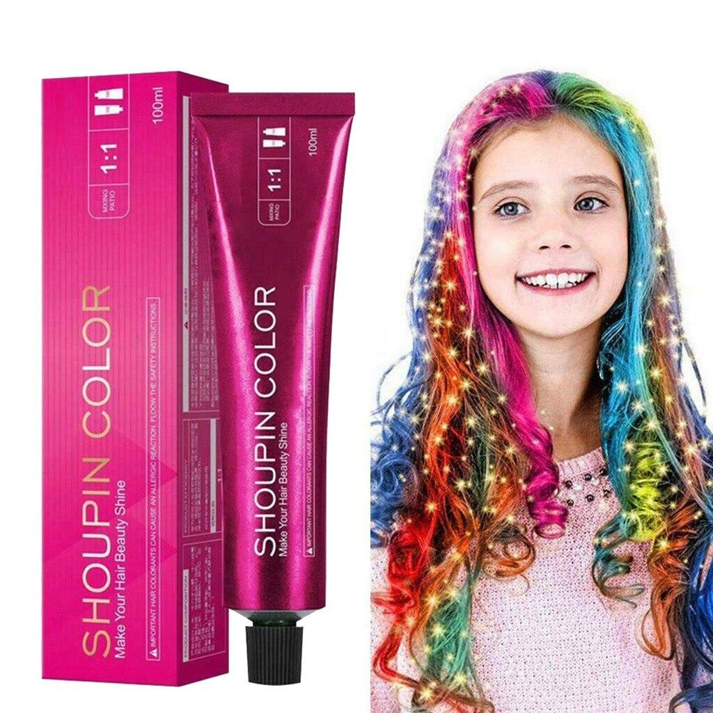 Шампунь Tinte Para Cabello для окрашивания волос «русалка», мягкий безопасный «сделай сам» шампунь для окрашивания волос для всей семьи, легко крас...