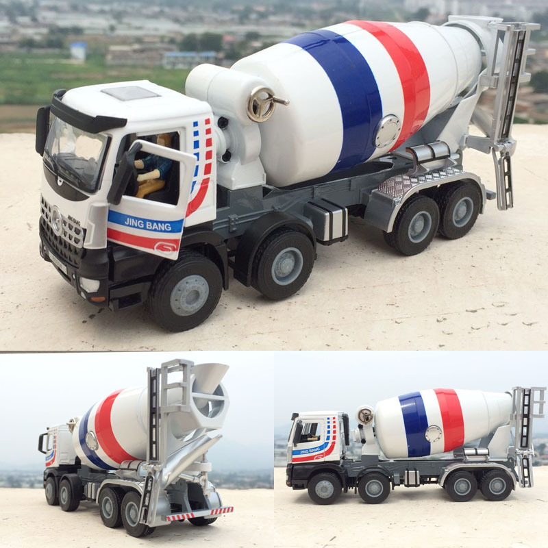 Children's Sound and Light Toy Alloy Car Model Car Model Toy Mixer Truck Engineering Vehicle Cement Merchant Mixed Vehicle