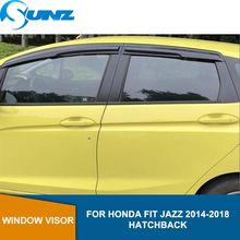 Side Window Deflectors For HONDA FIT 2014 2015 2016 2017 2018 HATCHBACK Winodow Visor Vent Shades Sun Rain Deflector Guard SUNZ bell hypoallergenic пудра матирующая гипоаллергенная mat powder тон 02