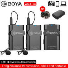 BOYA BY-WM4 Pro K1/K2 Dual Channel Wireless Studio Condenser Microphone Lavalier Lapel Interview Mic for DSLR Camera Smartphone