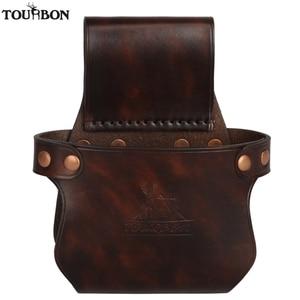 Image 2 - Tourbon Tactical Hunting Gun Accessories Gun Buttstock Shotgun Hip Holster Waist Belt Rifle Holder Genuine Leather
