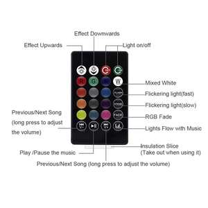 Image 5 - Smart E27 8W LED Bulb RGB Light Bluetooth Audio Speaker LED Light Bulb Music Playing Dimmable Light with 24 Keys Remote Control