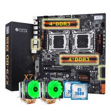 HUANANZHI X79-8D motherboard bundle discount dual X79 motherboard with M.2 slot dual CPU Intel Xeon E5 2689 with 6 tubes coolers