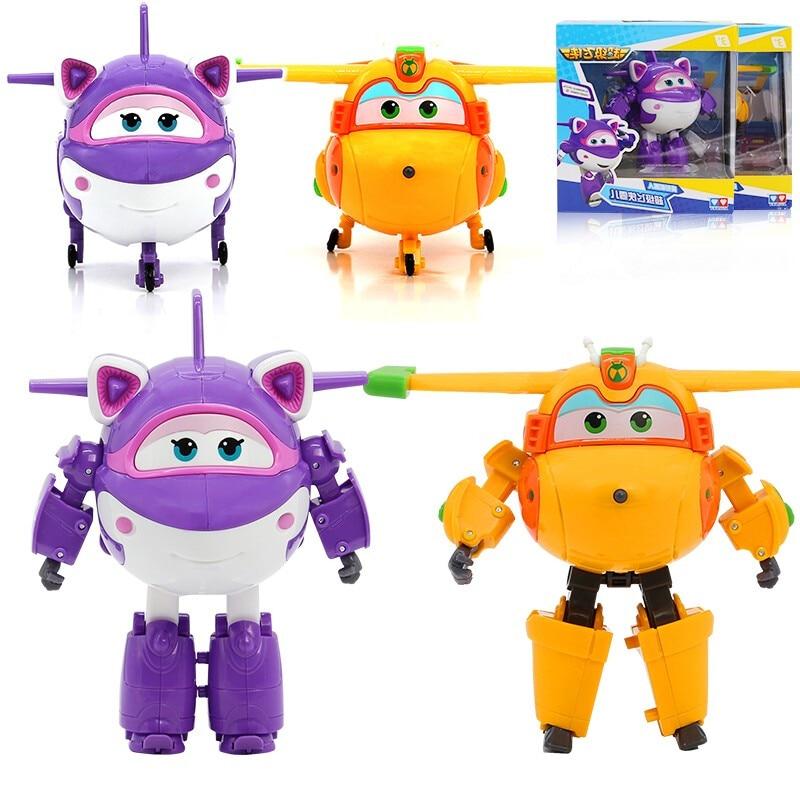 Новинка, большие игрушки ABS Super Wings, деформация, строительные игрушки, фигурки героев, анимационные игрушки-трансформеры Krystal/Bucky