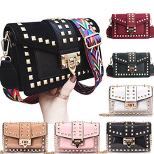 Small clear Brand Designer Woman 2019 New Fashion Messenger Bag Chains Shoulder Bag Velvet Rivets Transparent Square PU Handbag(China)