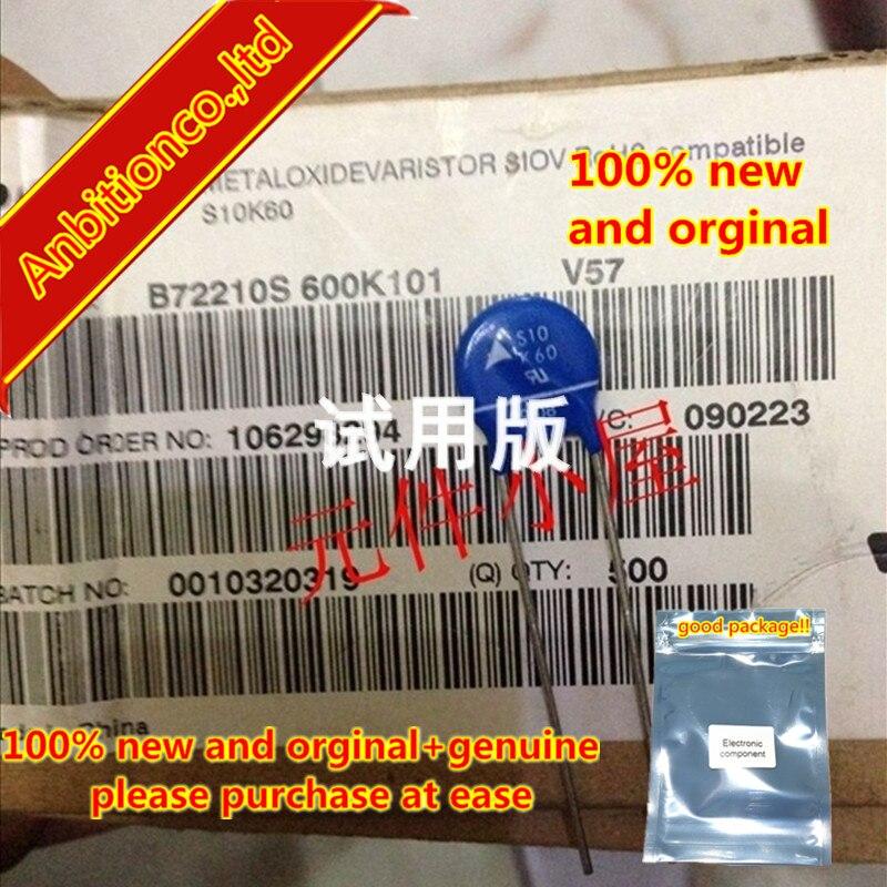 10pcs 100% New And Orginal S10K60 Varistor B72210S0600K101 10MM 60VAC In Stock