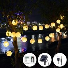 Lantern Solar Garland String Lights USB AA Battery Fairy Holiday Lights 50LED Lighting String Garden for Outdoor,Indoor Lighting