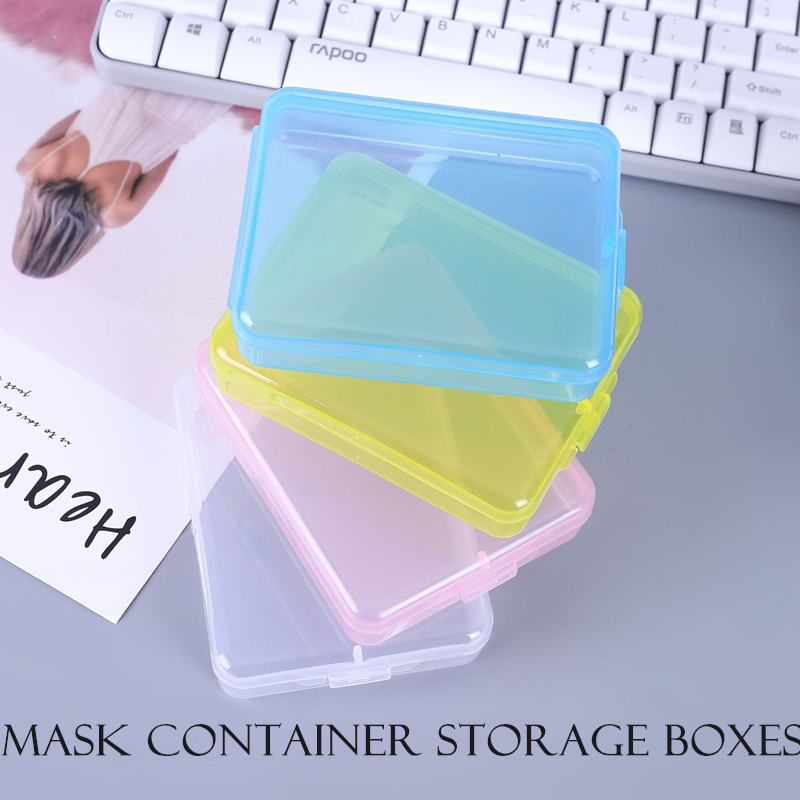 Portable Recycling Mask Storage Box Disposable Face Mask Storage Clip Container Case Masks N95 Dustproof Storage Organizer