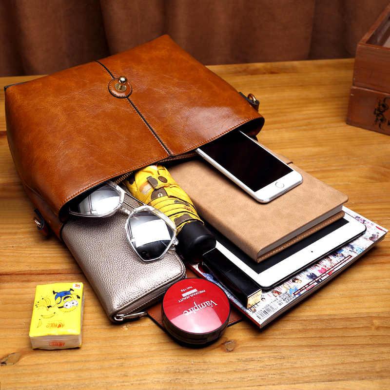 Женская сумка-мессенджер из 100% натуральной кожи, Женская Офисная сумка через плечо, ручная сумка для женщин, 2020