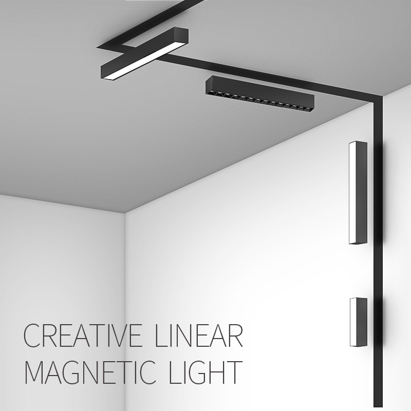 SCON Hot sale 90 Degree Movable Floodlight linear lighting fixture for Magnetic Channel Spotlights     - title=