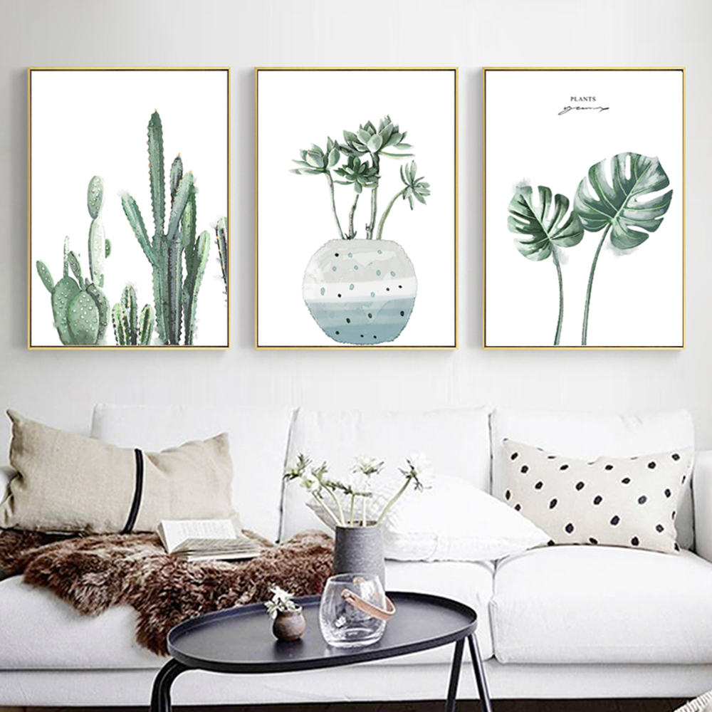 Nordic Modern Watercolor Plants Simple Decoration Painting Home Art Paomtomg For Office Decor Wall Decor Picture