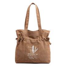 2019 New Fashion Reusable Shopping Bag Women Shoulder Bags Lady Simple Cartoon Casual Style Canvas Waterproof HandBags ZX-133