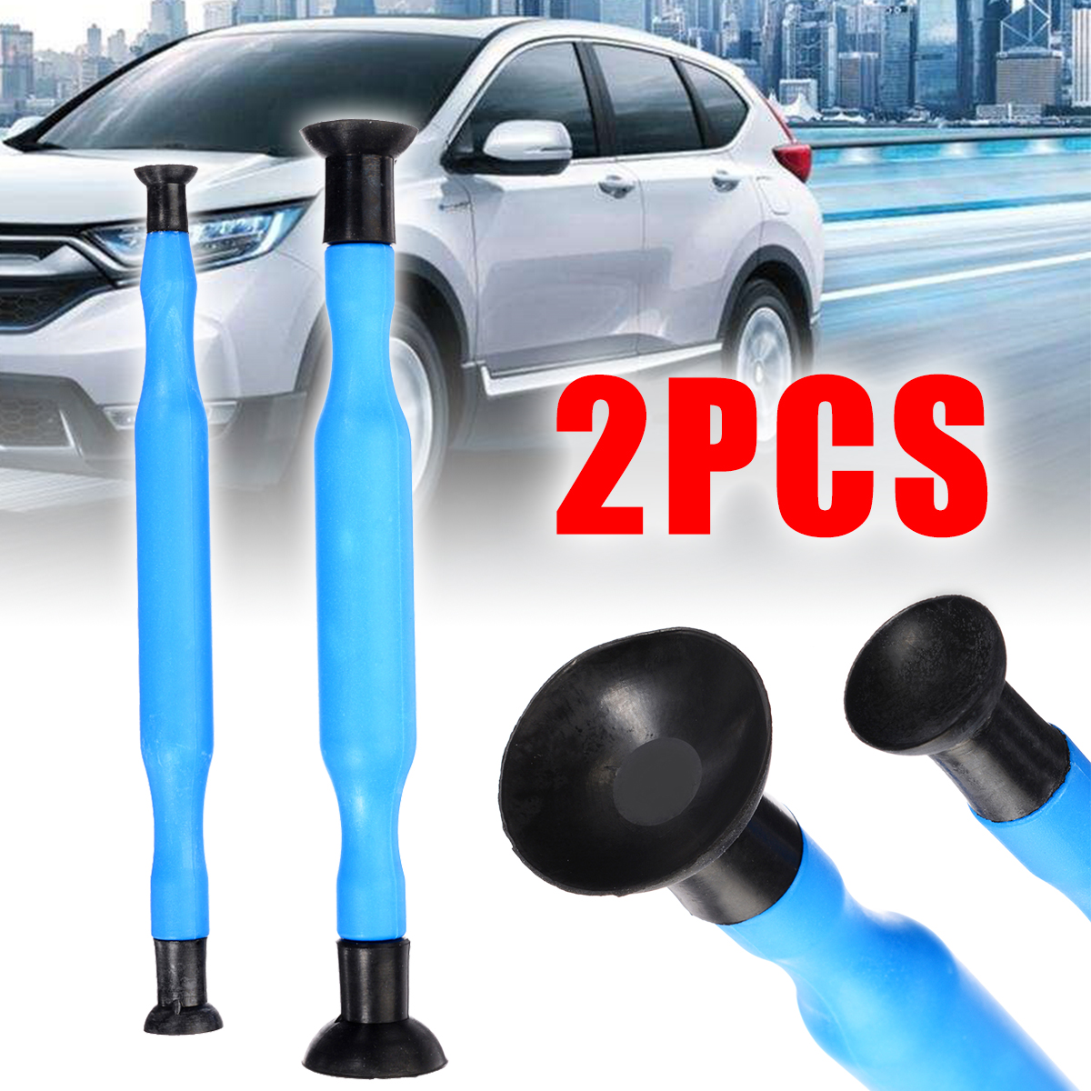 Mayitr 2pcs Valve Lapping Grinding Stick Plastic Lapper Grip Tool With Suction Cups Kit Set for Auto Hand Tools