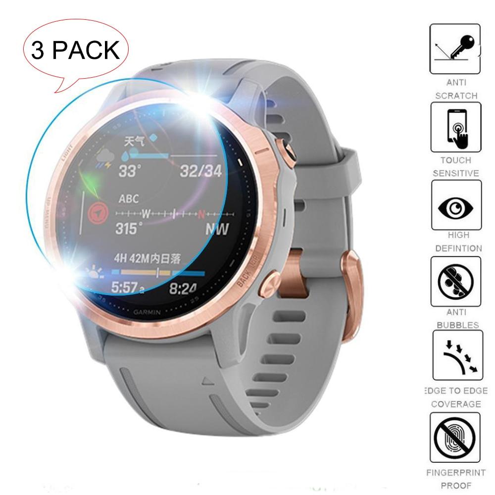 3Pcs Smart Watch Protective Film For Garmin Fenix 5 5s Plus 6S 6X Pro Ultra Clear Tempered Glass Film  Premium Screen Protector