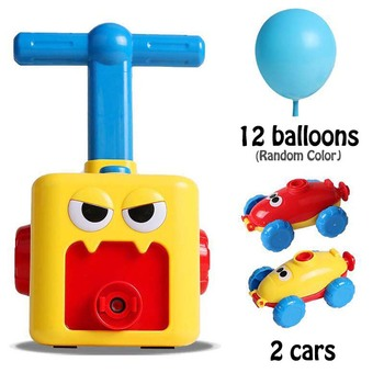 цена на HISTOYE Educational Science Experiment and Puzzle Inertial Balloon Toy Inertial Power Balloon Car Toys for Children