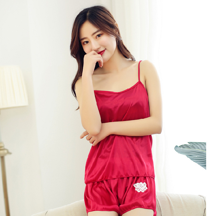 Summer Pajamas Summer Butterfly Set Korean-style Cute Sexy Set Viscose Fabric