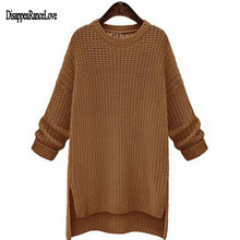 2019 Korean Fashion Ladies Full Sleeve Women Knitting Sweater Solid O-Neck Pullover And Jumper Loose Hot Sale