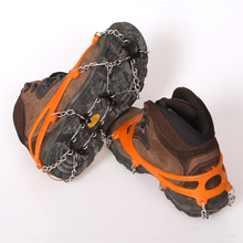 Ice-Gripper Cleats Anti-Slip Climbing Shoe-Covers Hiking 8-Teeth 2pcs/Lot Men Women