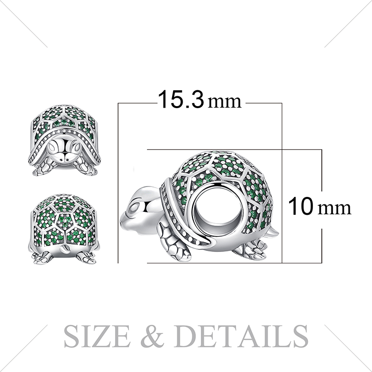 H00f81382a3254e6891530f8f31774432N JewelryPalace Turtle 925 Sterling Silver Beads Charms Silver 925 Original For Bracelet Silver 925 original Beads Jewelry Making
