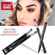LULAA 4 насадки с вилками, жидкий карандаш для бровей, водостойкий, черный, коричневый, тату-ручка для бровей, тонкий эскиз, оттенок, длительный срок службы, TSLM1