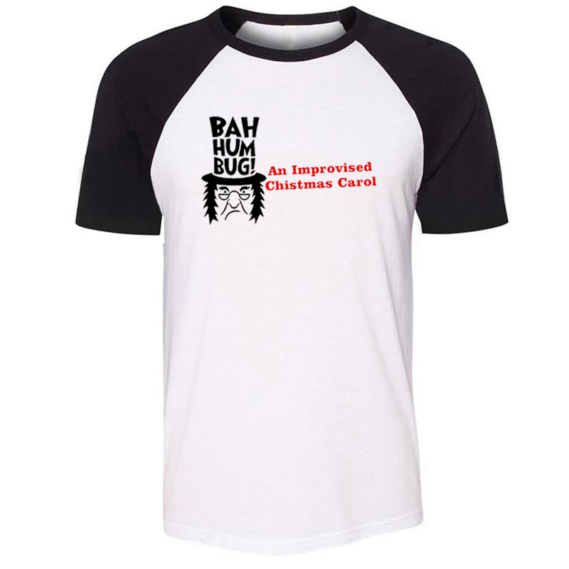 BAH Humbug An Improvised Christmas Carol Gentleman <font><b>Dresses</b></font> Mens Guys Printing T Shirt <font><b>Graphic</b></font> Tee Short Sleeve Cotton <font><b>Tshirts</b></font> image