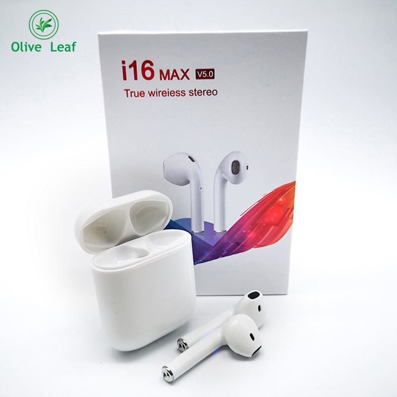 <font><b>i16</b></font>-<font><b>MAX</b></font> <font><b>TWS</b></font> 2019 New Wireless bluetooth 5.0 headset HIFI sound quality Ear phone Waterproof bluetooth earphone IOS/ android image