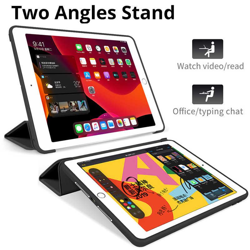 2019 Ốp Lưng iPad 10.2 Cho iPad 7th Thế Hệ Mới Cho Năm 2018 iPad 9.7 6th Air 2 10.5 Không Khí 3 2018 pro 11 Mini 4 Mini 5 Bao Da Thông Minh