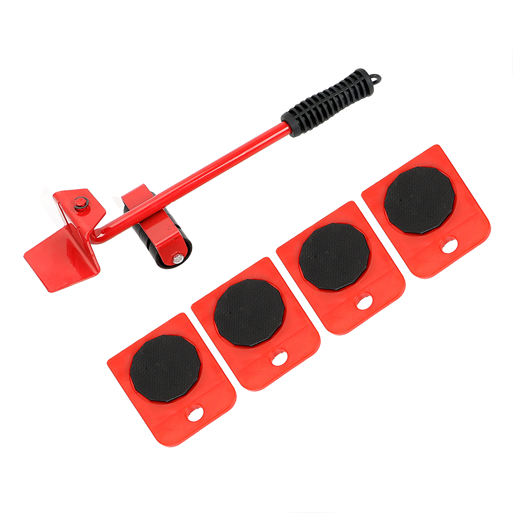 NICEYARD Furniture Transport Hand Tool Set Lifter Heavy Stuffs Moving Tools Slides 4 Wheeled Corner Movers + 1 Crowbar