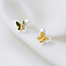 2019 100% 925 Sterling Silver Jewelry Fashion Cute Tiny 6 mm X Gold Heart Stud Earrings Gift For Girls Kids Lady