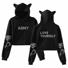 Europe And America for BTS New Album LOVE Yourself Cool High-waisted Cat Ear Nav
