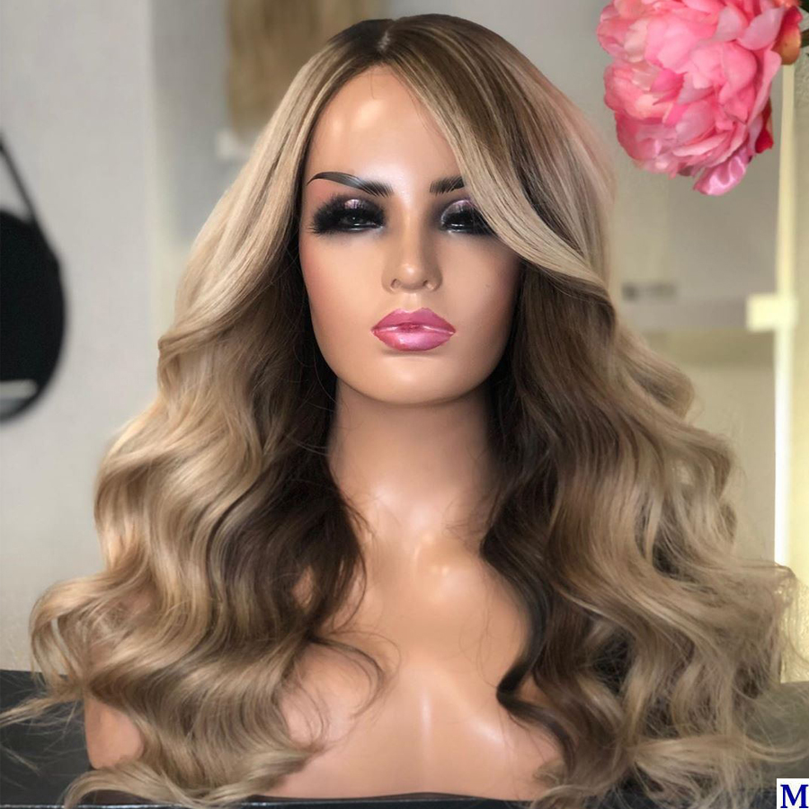 Eversilky Body Wave Highlight Lace Front Human Hair Wigs Transparent Lace 180Density Blonde Full Lace Wigs For Black Women