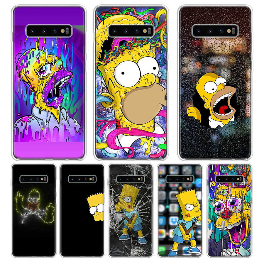 Homer J.Simpson Phone Case For Samsung Galaxy S7 S8 S9 Plus J4 J6 J8 2018 S7 Edge Note 8 9 10 Coque Back Cover Soft Silicone TPU