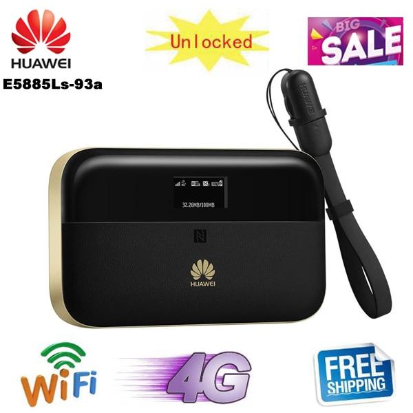 Разблокированный Huawei WiFi 2 Pro E5885 телефон, беспроводная мобильная карманная точка доступа, маршрутизатор, порт Ethernet, внешний аккумулятор 6400 ма...