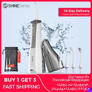 ShineSense SIO200 Oral Irrigator Dental Water Flosser Jet Toothpicks USB Rechargeable Waterproof for Teeth Whitening Cleaning