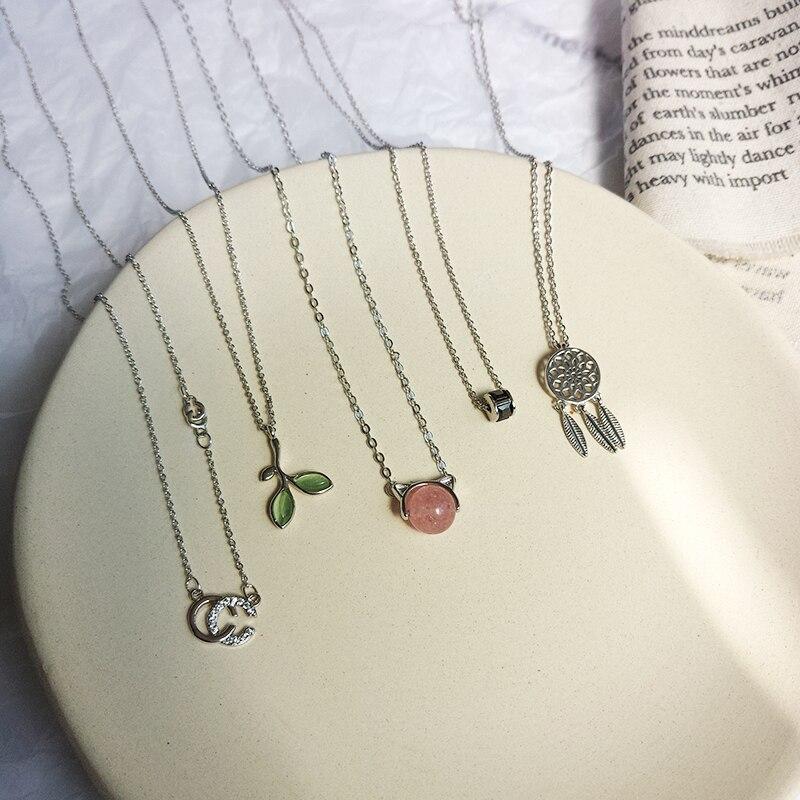 Женское короткое ожерелье с маленькими сердечками, ожерелье с подвеской в форме звезды, подарочное тонкое колье, модные вечерние ювелирные изделия Ожерелья с подвеской      АлиЭкспресс
